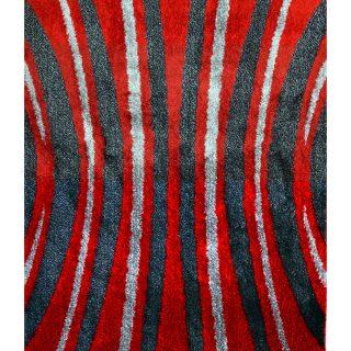 Hoogpolig Vloerkleed -Rode Shaggy