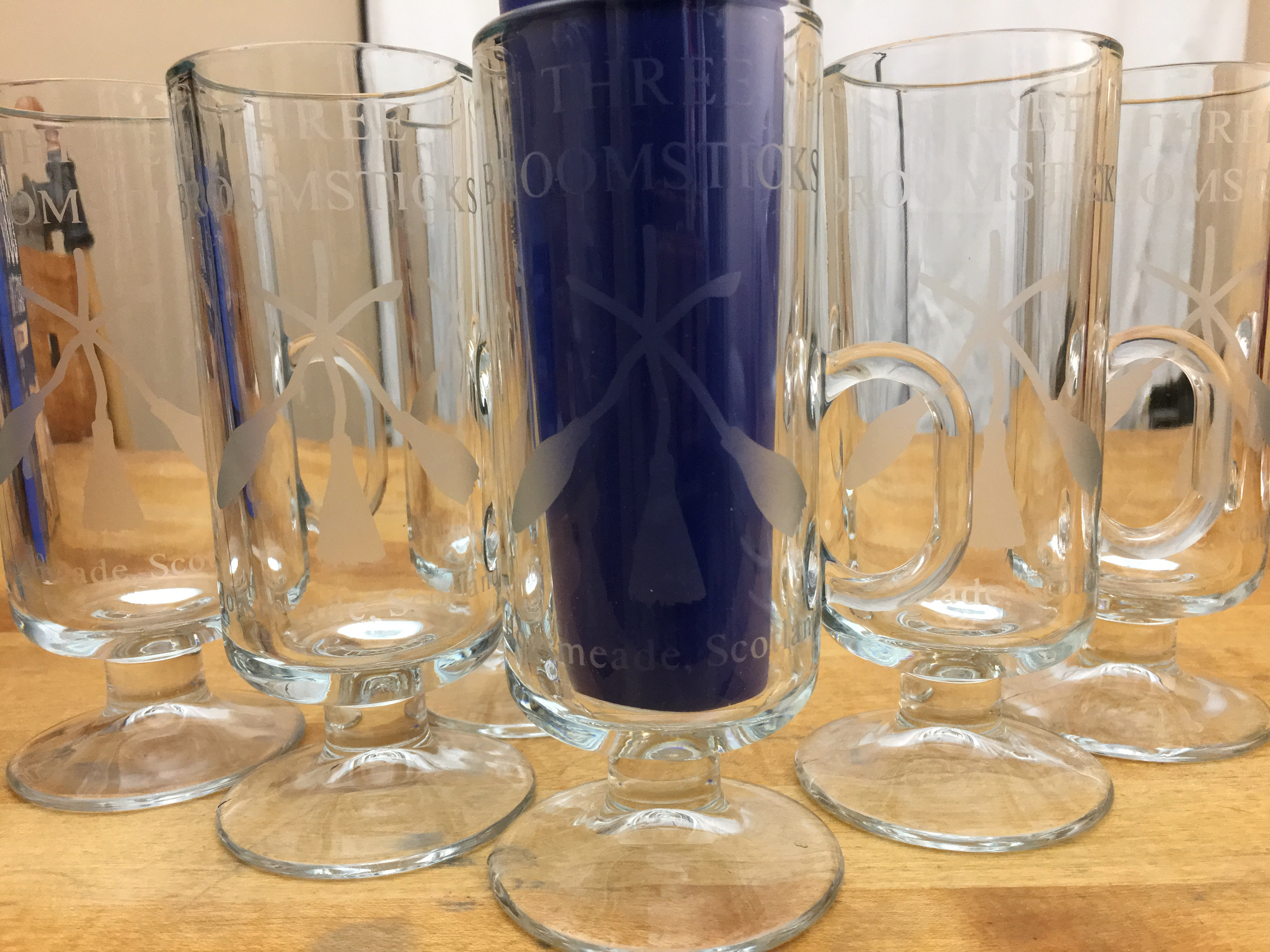 Potter – Glass Broomsticks Harry Three Inspired Etched Mugs 5A43LRj