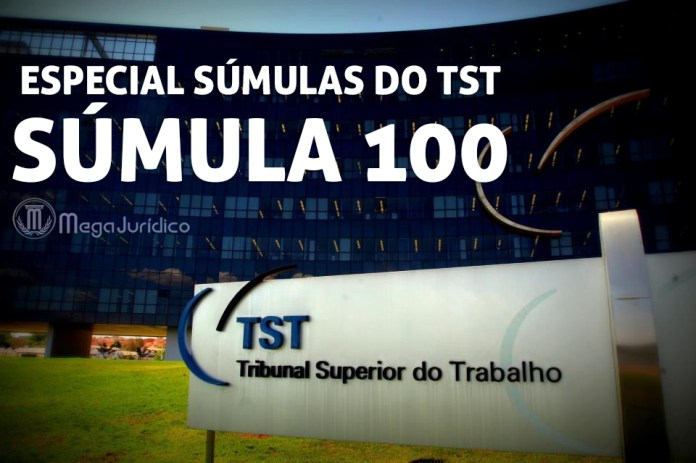 especial sumula 100 TST