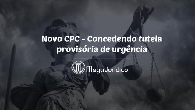 tutela provisoria de urgencia _NovoCPC