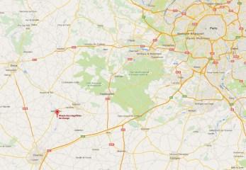 Carte de localisation du musée des mégalithes de Changé