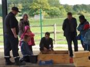 Inauguration - découverte des ateliers d'initiation à la fouille et de polissage de silex pour les enfants