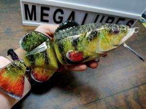 Fatboy Jr Perch, custom fishing lures