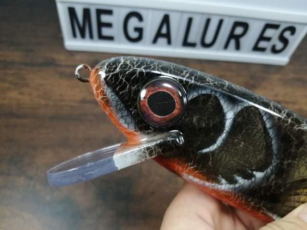 GS10 Black Perch , MEga Lures, Polycarbonate, Custom Lures