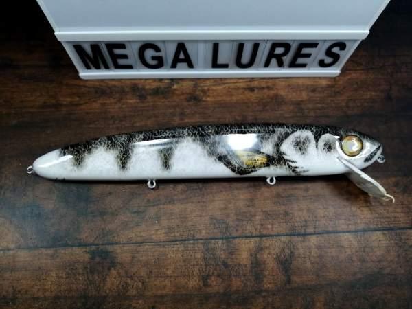 GS 14, Mega Lures, Musky Lures, Fishing, Custom Lures, Silver Walleye, 50in club