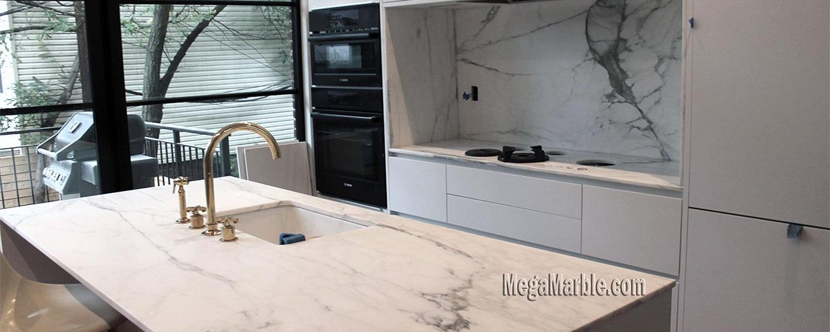 Calacatta Marble Kitchen Countertops NYC