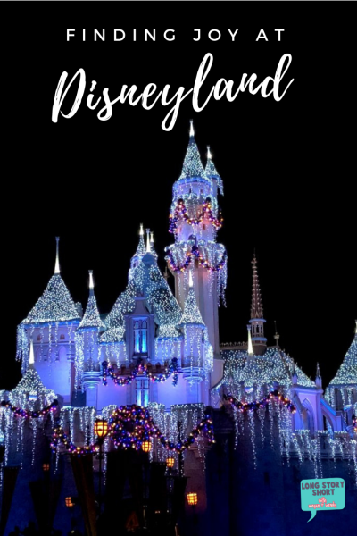 Finding Joy at Disneyland | Disneyland Castle at Christmas