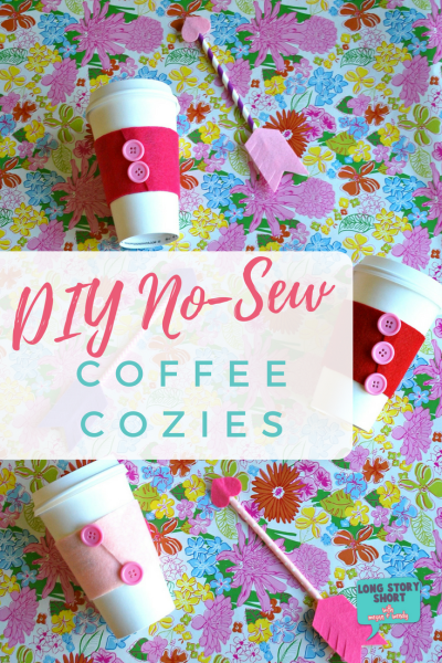 No-Sew Coffee Cozy