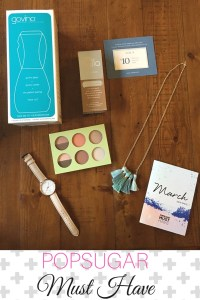 What's inside the POPSUGAR March 2016 Box