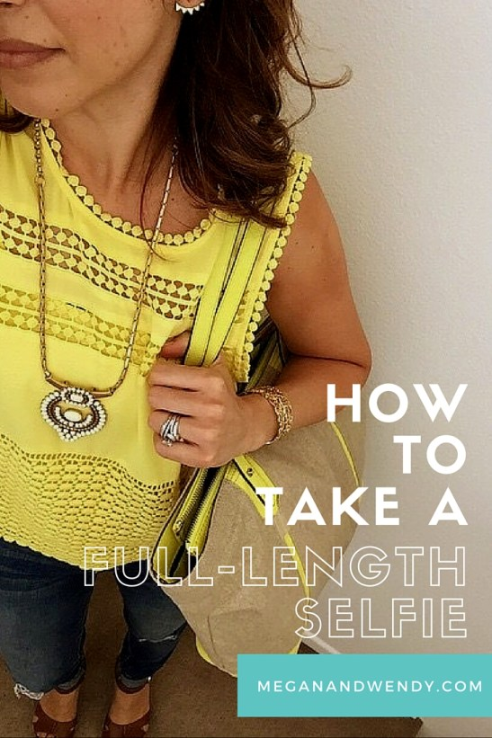 how to take a full length selfie
