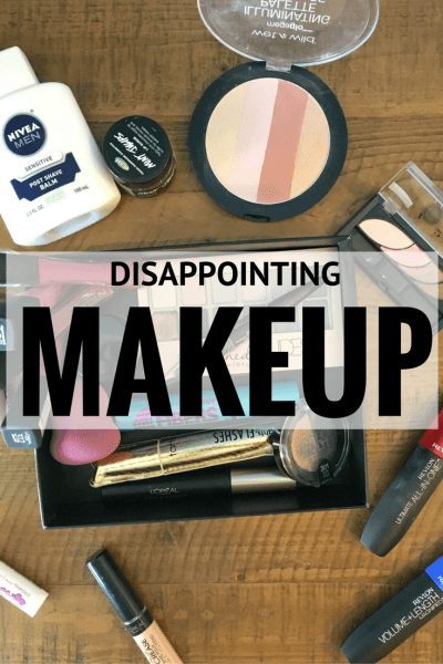 Disappointing Makeup - Sometimes we have such high hopes for makeup and it just doesn't pan out. We're sharing those products that were a bummer for us - but maybe it's something you love!