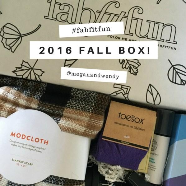 FabFitFun Fall 2016 Box