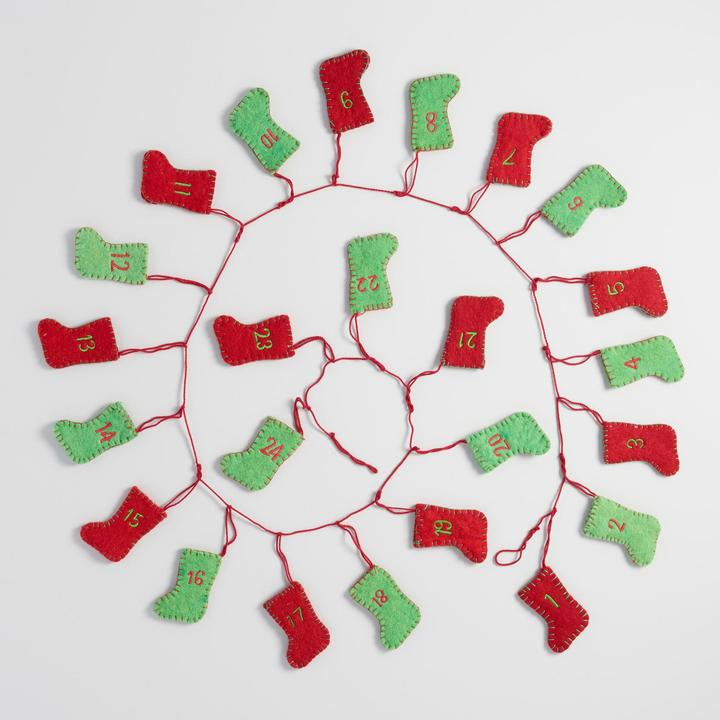 Felt Stocking Advent Calendar