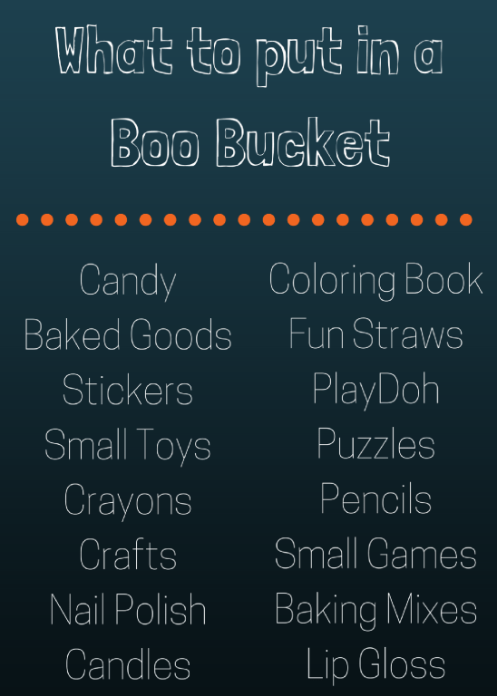 Want to gift a Boo Bucket this Halloween but not sure what to put inside? 15+ ideas of what to put inside a Boo Bucket!