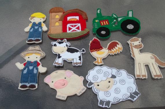 Felt Farm Animals - Gift Guide for Animal Loving Kids