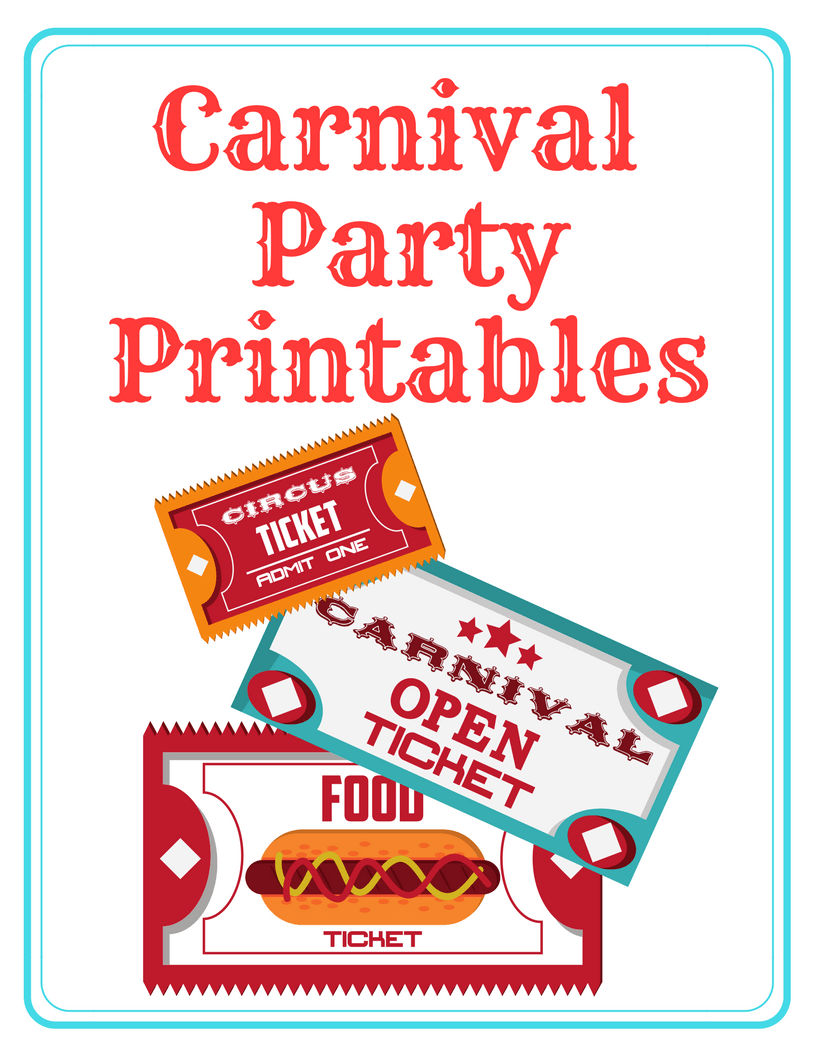 image about Free Printable Carnival Signs named Carnival Celebration Printables