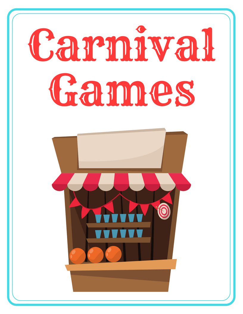 image about Free Printable Carnival Signs identified as Carnival Celebration Printables