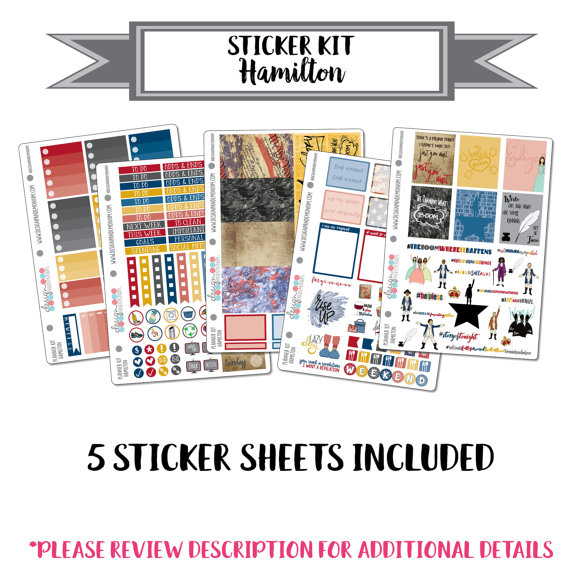 Hamilton Planner Sticker Kit
