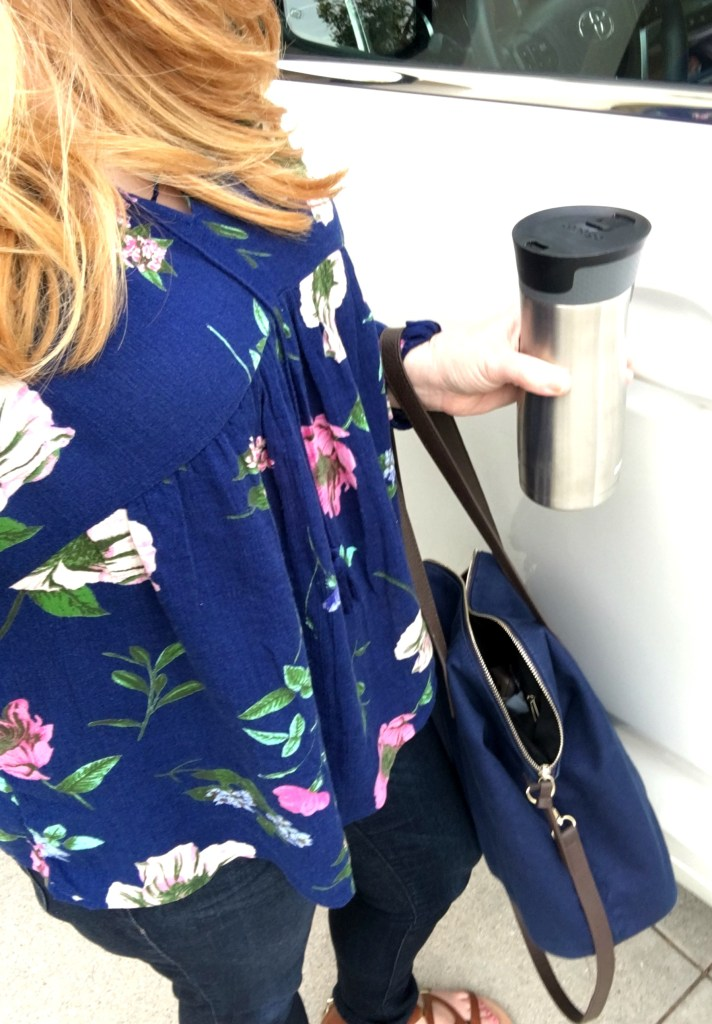 Coffee on the go featuring Starbucks One Bag One Tree Collaboration with Conservation International #OneTreeOneBag #collectivebias #ad