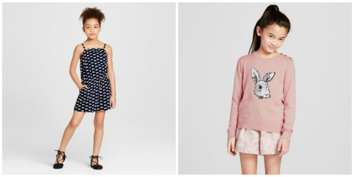 VB x Target Blue Romper and Blush Bunny Sweater
