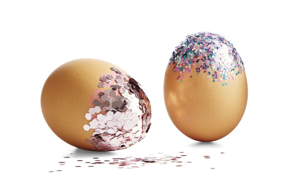 Glitter Eggs from Good Housekeeping, April 2017