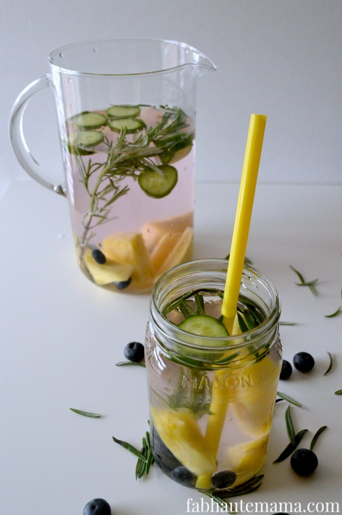 Fruit and Herb Infused Water from Fab Haute Mama