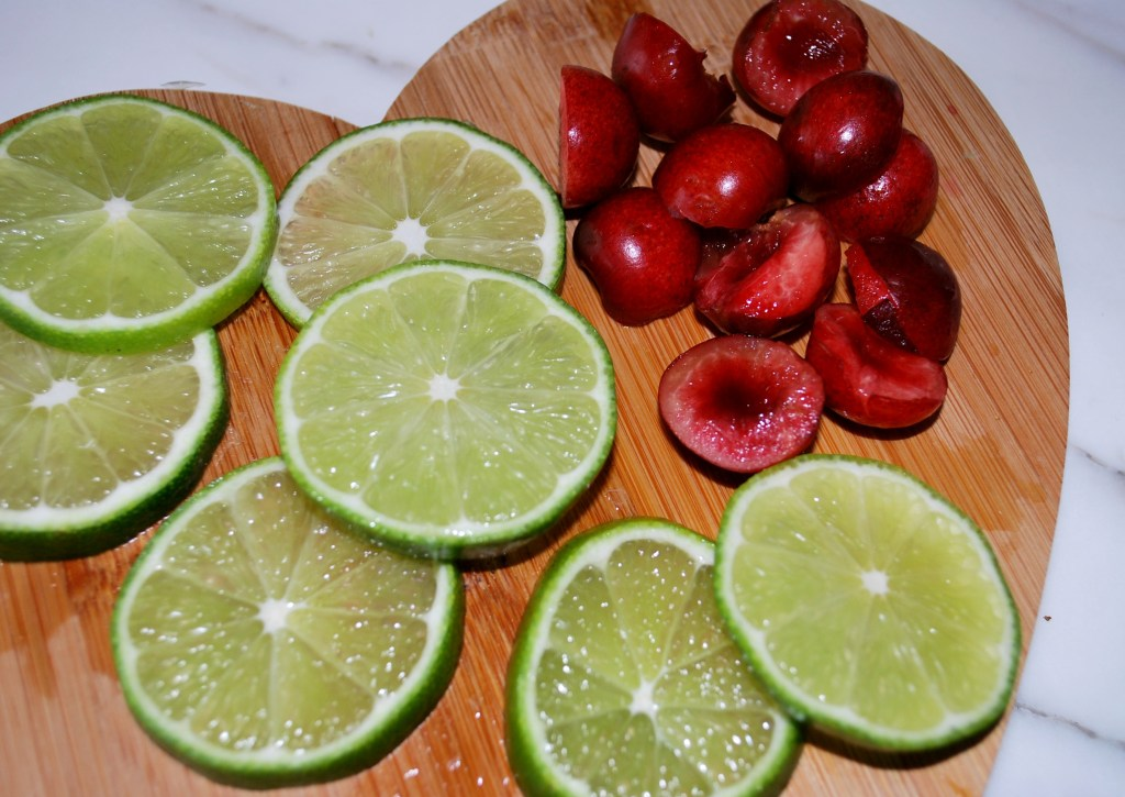 Cherry Lime Infused Water Recipe