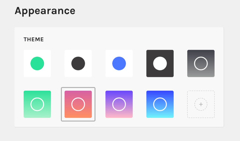 Linktree Color Schemes