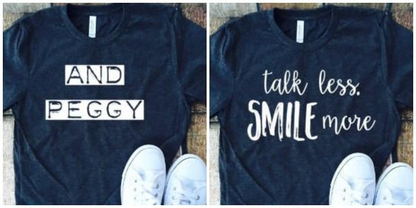 Hamilton t-shirts | Mary and Maddy Etsy shop