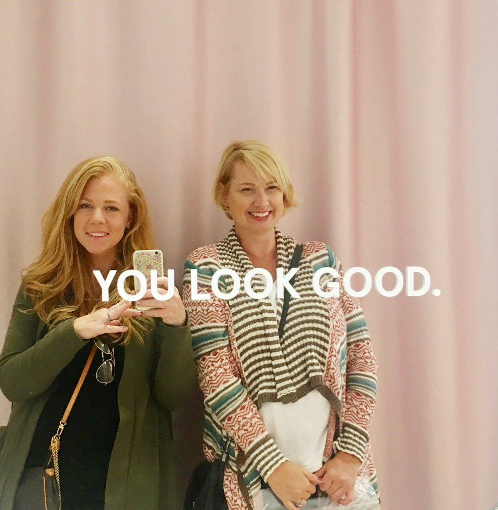 You Look Good mirror at Glossier Showroom in New York City.