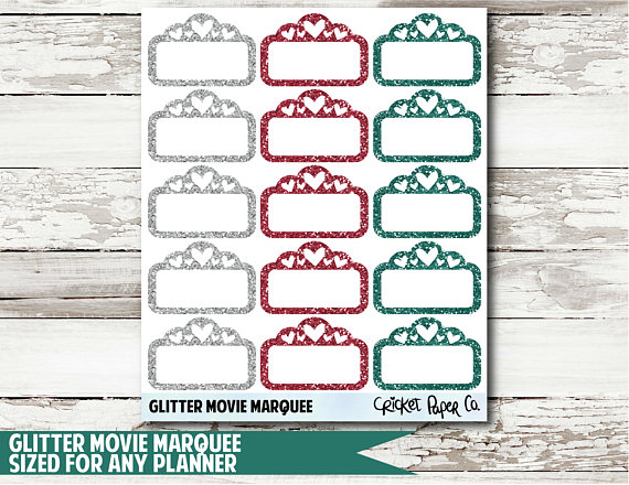 Holiday Marquee Functional Planner Stickers