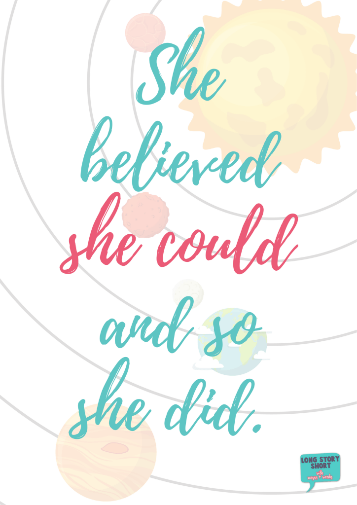 She believed she could and so she did quote - American Girl Giveaway