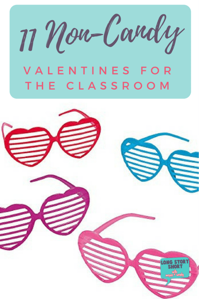 11 Non-Candy Valentines for the Classroom, all available on Amazon, and all paired with a free printable to go with them!