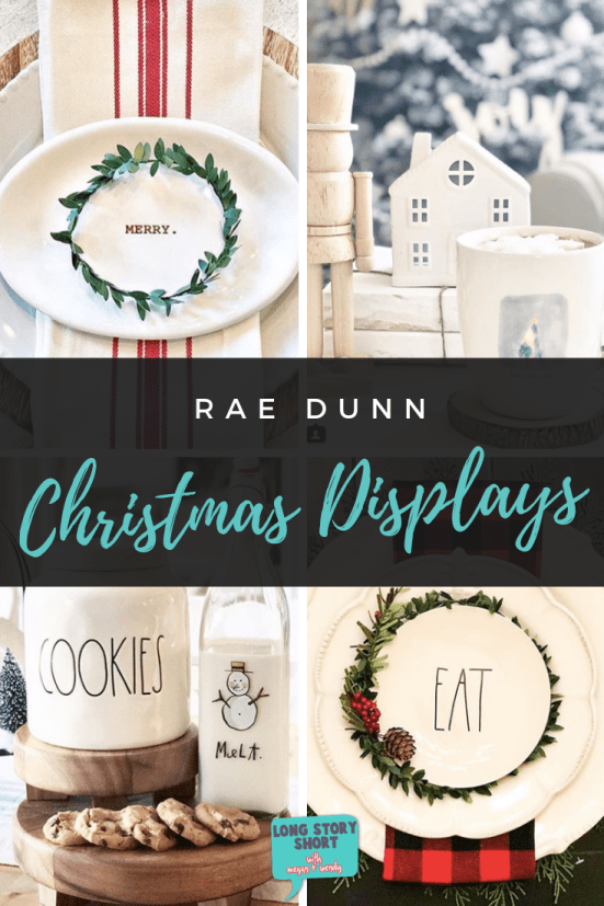 Looking for inspiration on how to display your Rae Dunn this holiday? Here's a round up of the most beautiful, favorite Rae Dunn Christmas displays. | #RaeDunn #RaeDunnChristmas #HomeDecor #ChristmasDecor