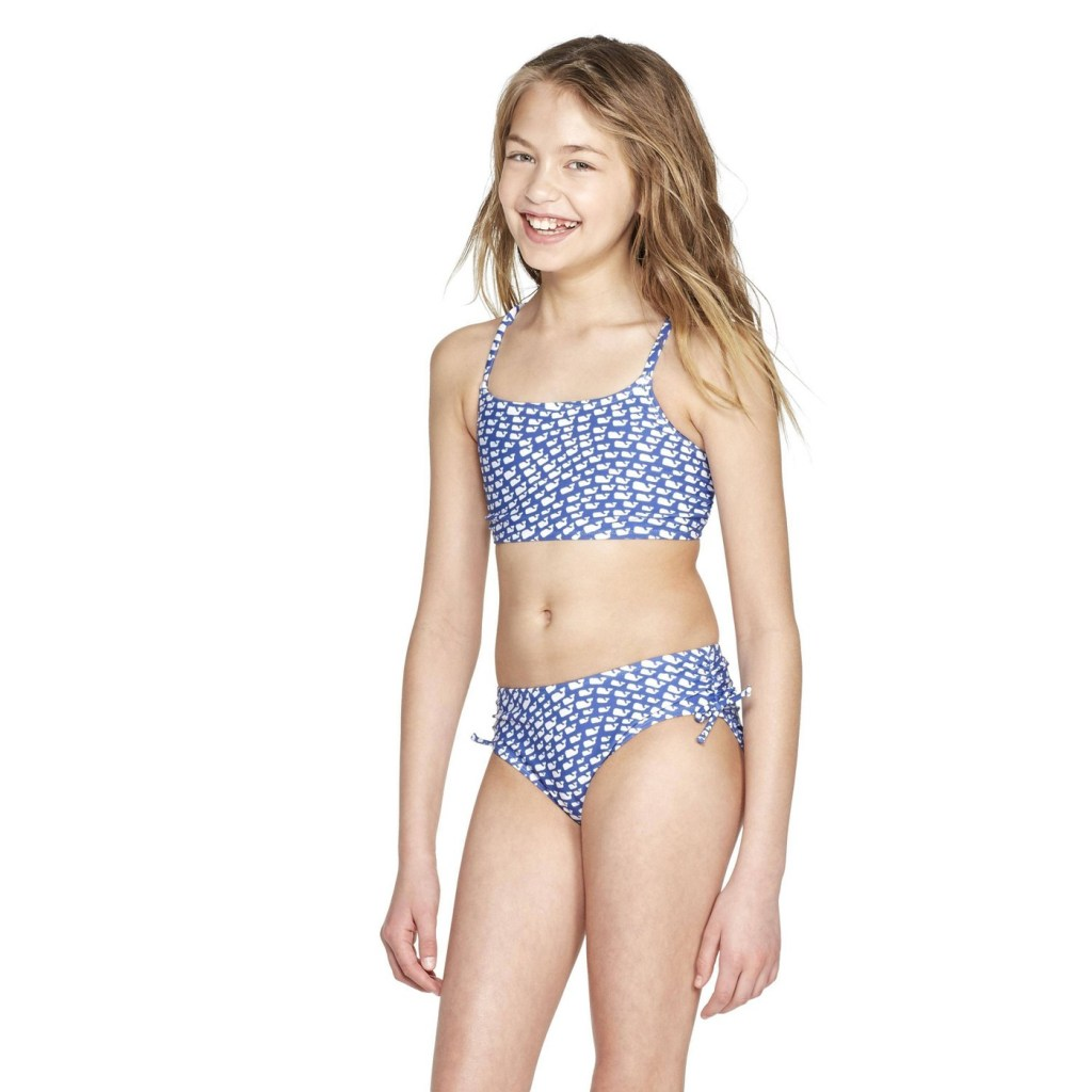 Three Target stores later and we are now a vineyard vines family. Here's our review of the new vineyard vines for Target collection. | #vineyardvinesForTarget | Whale Swimsuit for Girls