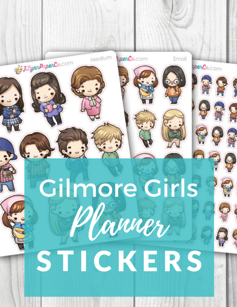 Gilmore Girls Planner Stickers - Planner Girls everywhere, get your Gilmore Girls planner stickers to decorate your planner spreads in your Erin Condren, Plum Paper or Hobonochi planner!