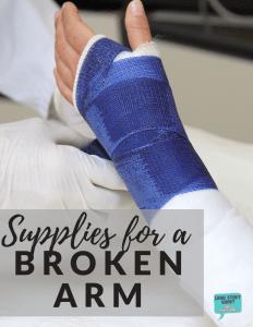Broken Arm Survival Supplies