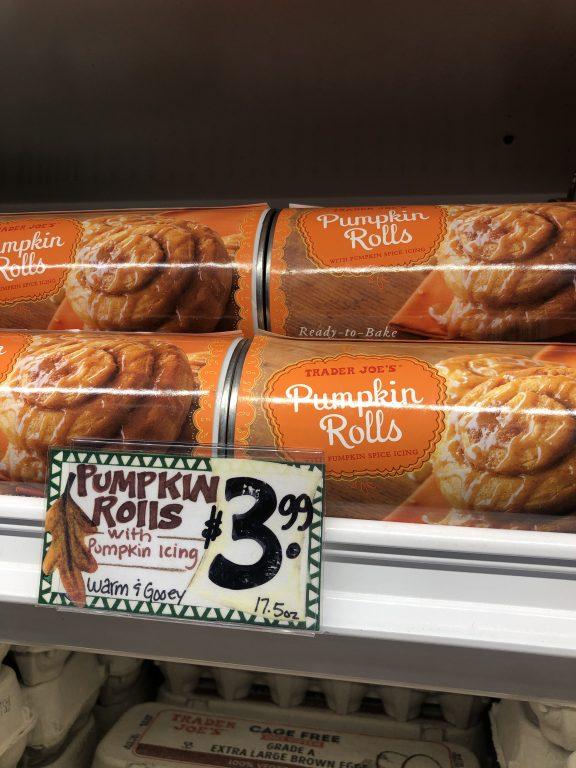 Trader Joe's Pumpkin Rolls $3.99 | Seasonal pumpkin goodies from Trader Joe's!