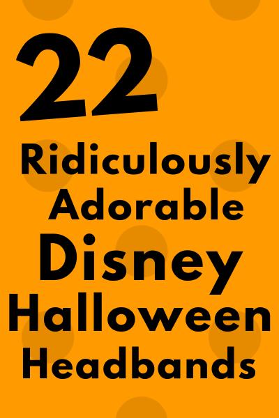 Halloween Ears for Disney