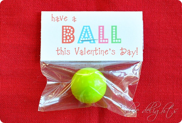 Buying these bouncy balls in bulk can make a valentine gift go a long way. Packing these up and stop the free printable to encourage children not to open in the classroom.
