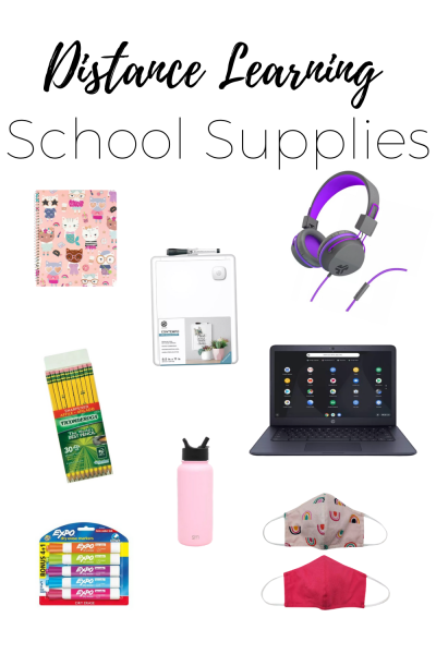 Distance Learning Supplies - Prepare for virtual and distance learning by creating your at home classrooms with these essential and helpful school supplies for back to school