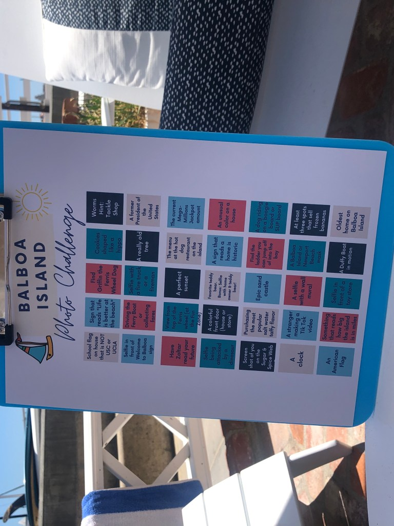 I created a Balboa Island Photo Challenge Scavenger Hunt for my pre-teen daughter and her friends to compete and find specific areas of interest on the island. Some sleuthing might have to be done to complete the challenge. #BalboaIsland #NewportBeach