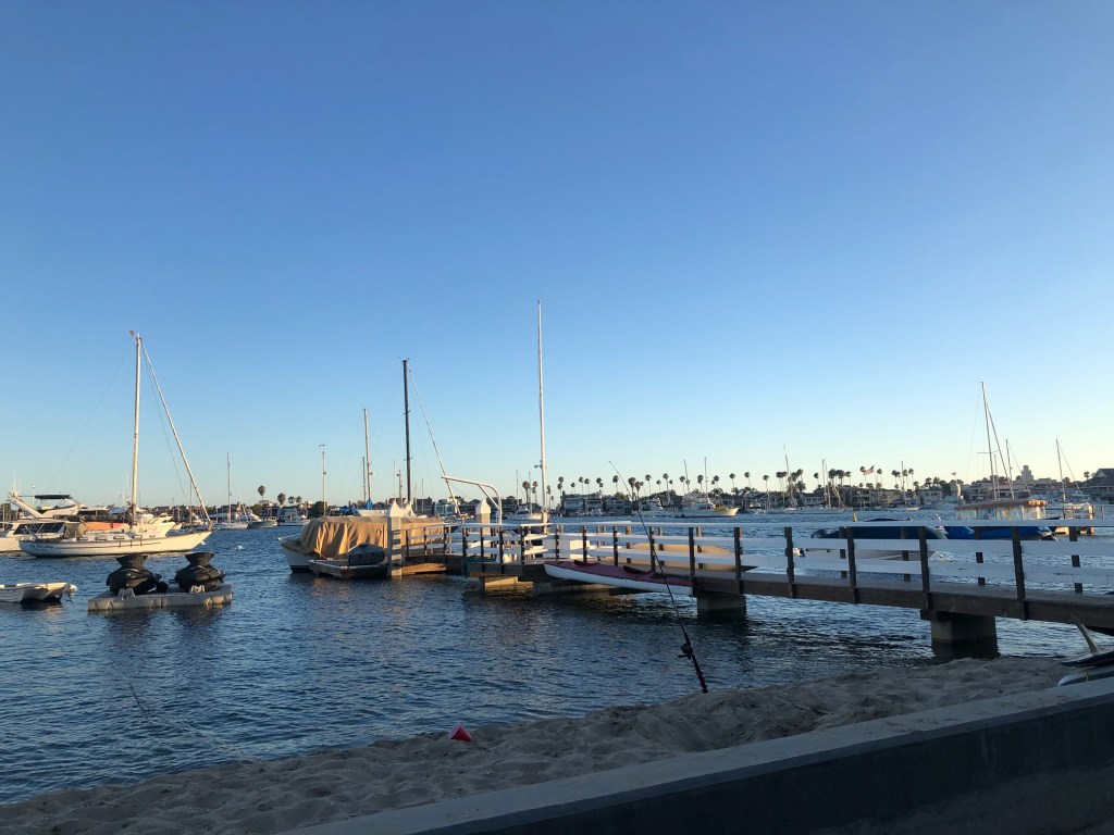 Most docks on Balboa Island are private but there are a few public docks open to fishing and swimming.