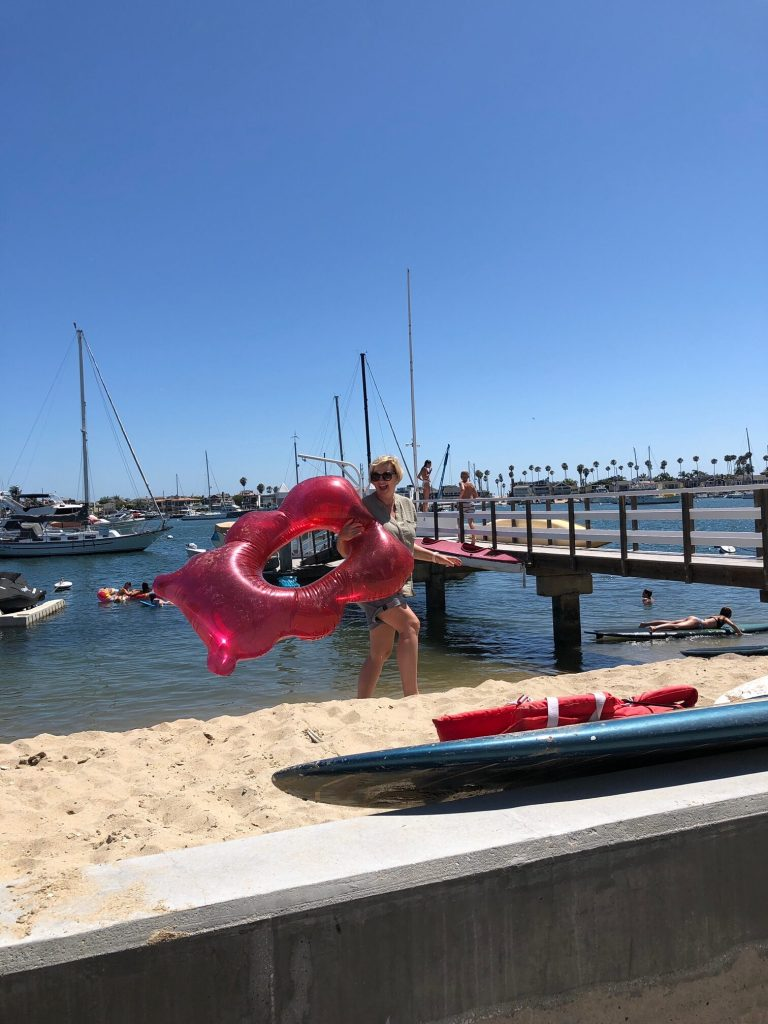 Pool floats, paddle boards and jumping off the dock were some of the things the kids did while staying on Balboa Island. Lots of laughs and little screen time!