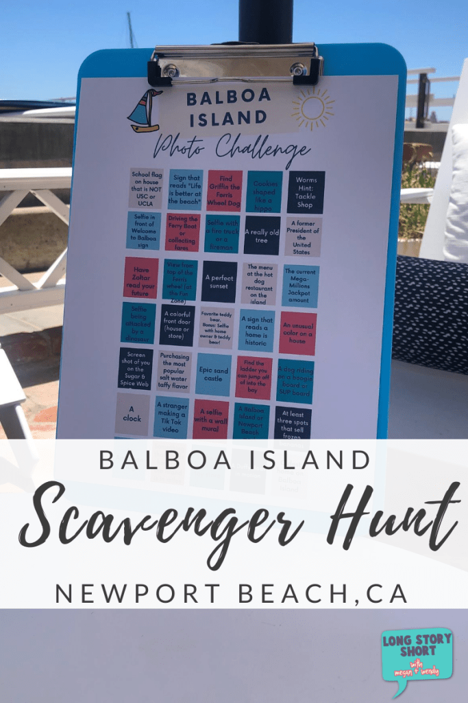 Download and print this free Balboa Island Photo Challenge Scavenger Hunt. Perfect for families, young teens or team building. Clues will lead to areas of interest and beauty around Orange County's quaint Balboa Island. #NewportBeach
