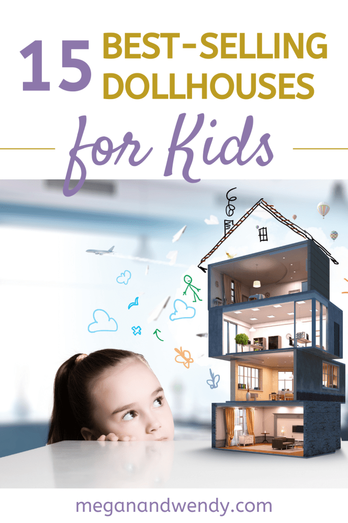 Dollhouses are great for imaginary play. See our favorites, plus Amazon's best selling dollhouses. #dollhouses #imaginaryplay