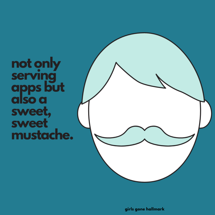Our podcast guest pointed out the server with the huge mustache and we couldn't stop staring.