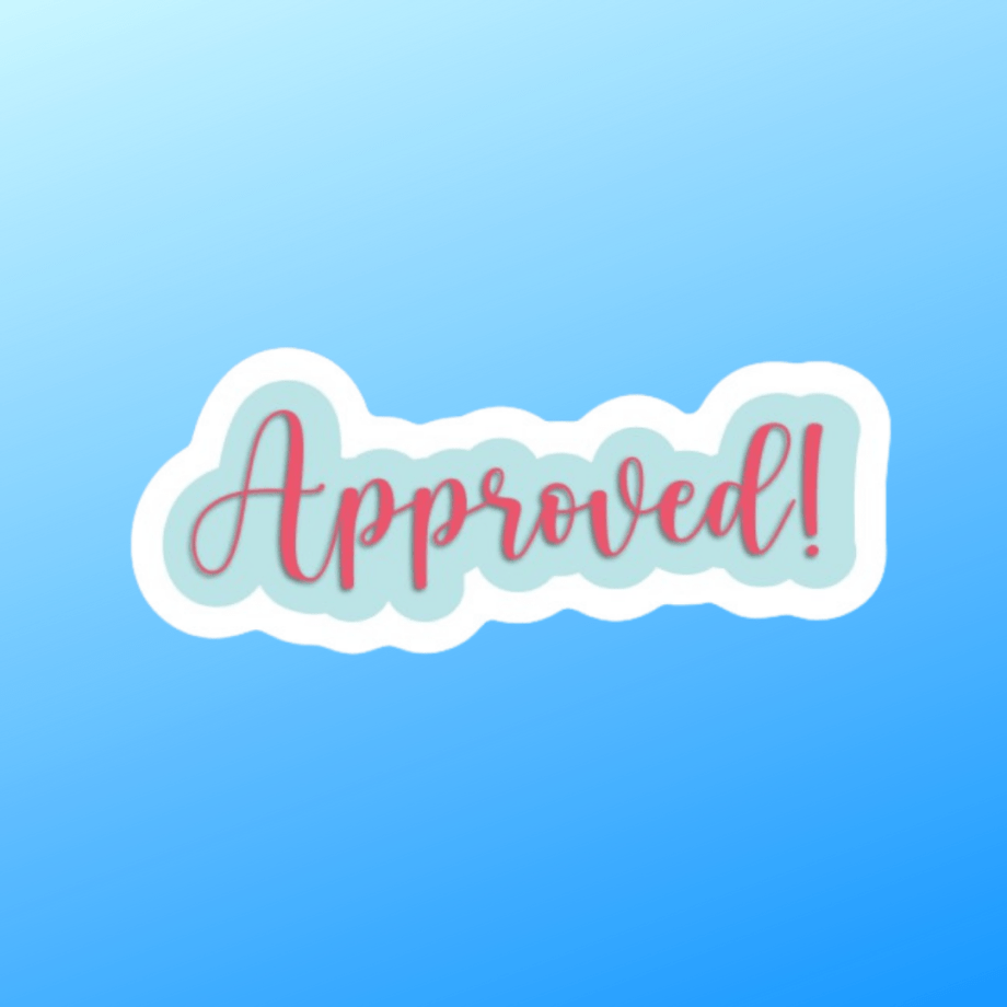 "Megan and Wendy ""Approved!"" Sticker"