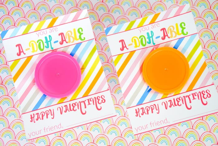 This free printable from madewithhappy.com pair perfectly with mini, 1oz. cans of Play-Doh.
