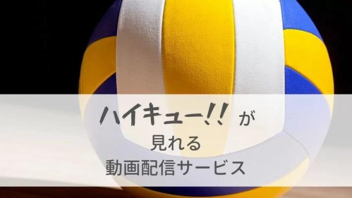 「ハイキュー!!」のアニメ・映画が見れる動画配信サービスまとめ!料金・特徴を比較
